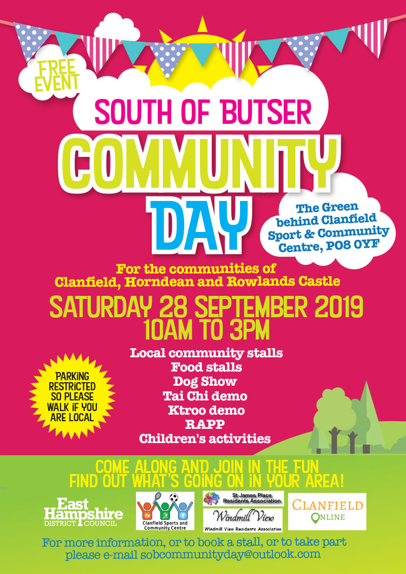 South of butser community day flyer 2019