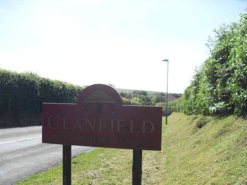 Clanfield Parish sign