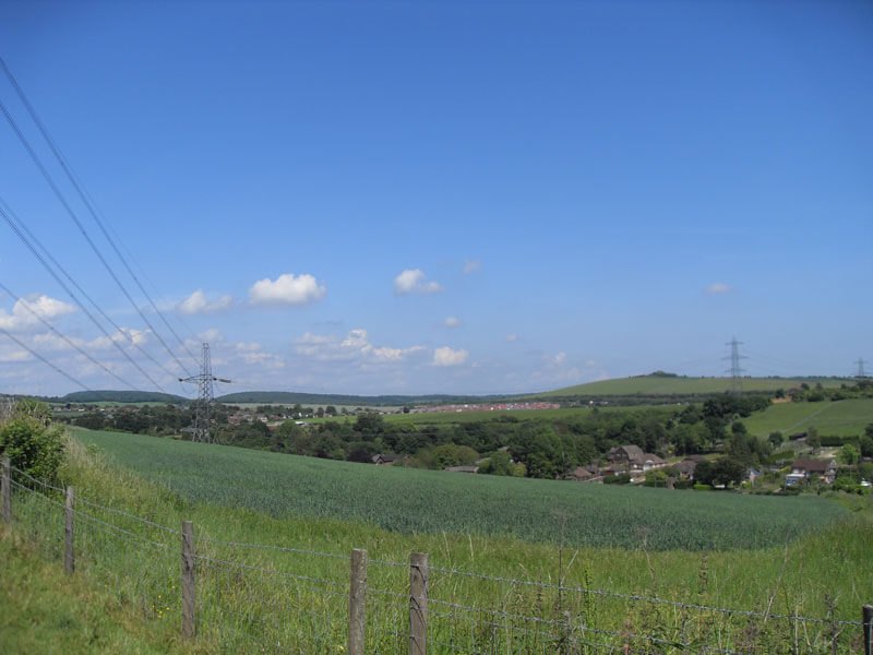 Overlooking Clanfield from West