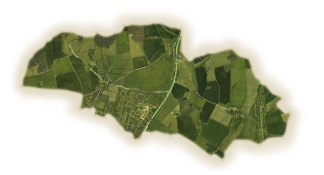 Clanfield Parish Area Map