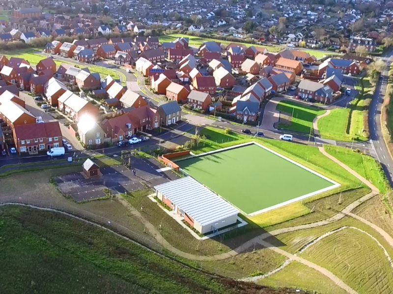 Bowls club aerial photo